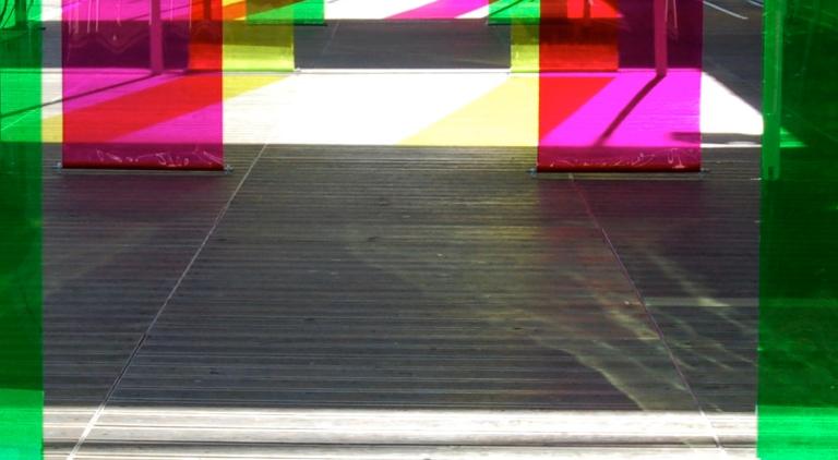 'Spectrum Shift' (Detail), London, 2006 by artsist Wendy Hardie