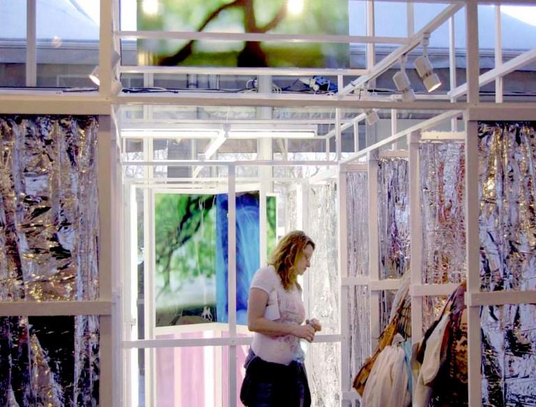 Wendy Hardie's environmental art installation 'R-Evolving Door' London 2007