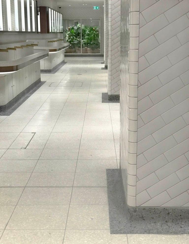 Wendy Hardie design collaboration with Landolt + Brown Architects, London Victoria Station WCs
